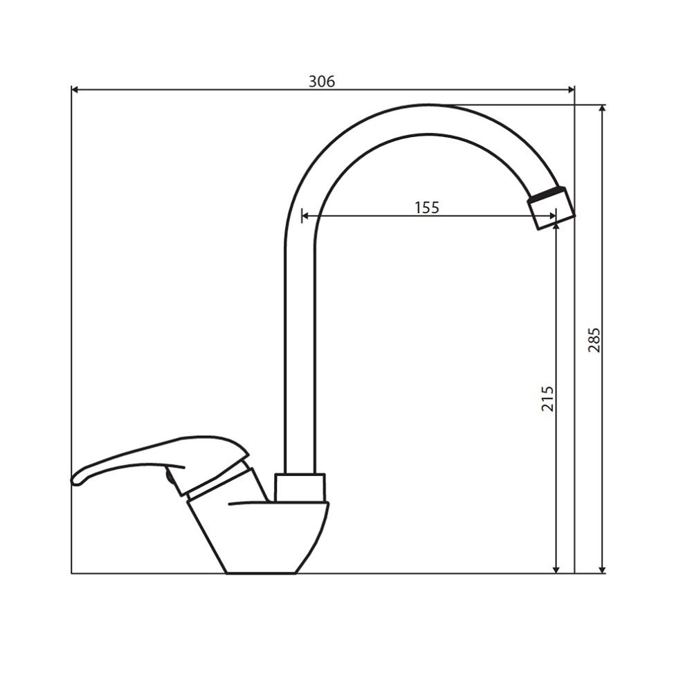 D8000000 Comfort смеситель для кухни, материал полимер, цвет хром