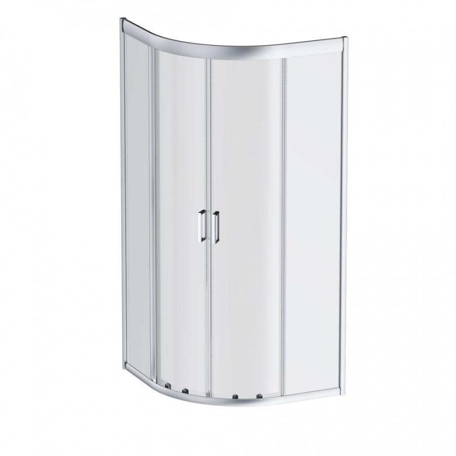 W90G-401-080WT Gem душевое ограждение 80х80, стекло прозрачное, профиль матовое серебро, без поддона