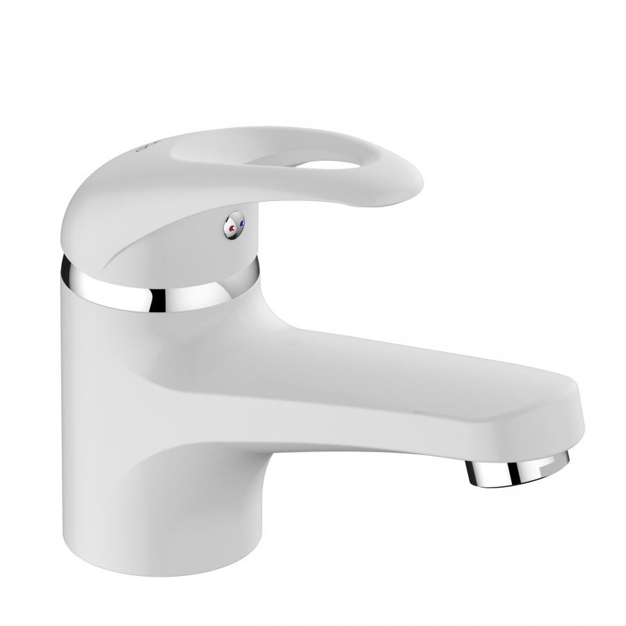 D8021000WH Comfort смеситель для умывальника, материал полимер, цвет белый