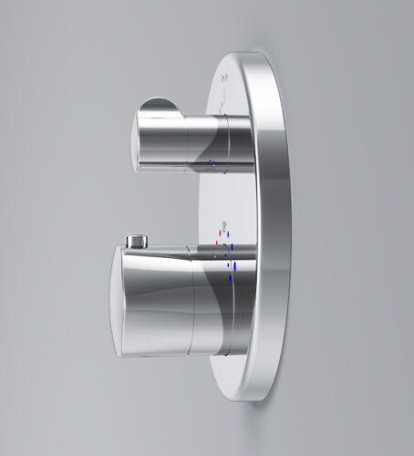 F9085500 Gem смеситель д/ванны/душа с термостатом, монтируемый в стену, хром, шт