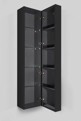M70ACHR0356GM  SPIRIT 2.0, шкаф-колонна, подвесной, правый, 35 см, фасад с полочками, push-to-open,