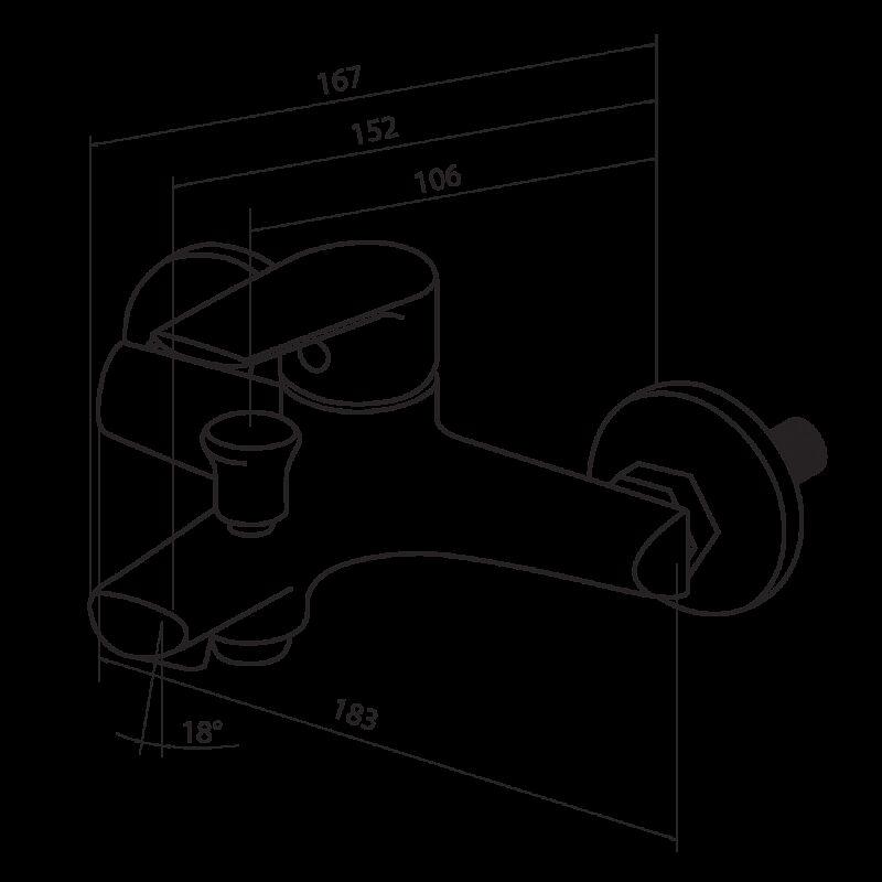 791000000 Origin Balance, смеситель для ванны/душа
