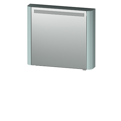 M30MCL0801GG Sensation, зеркало, зеркальный шкаф, левый, 80 см, с подсветкой, мятный, глянцевая,шт