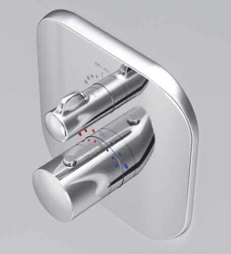 F3075600 Sensation, cмеситель д/душа встраиваемый с термостатом, хром, шт.