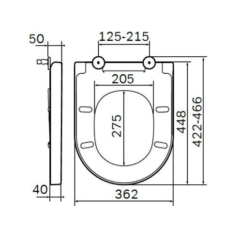 C707855WH Spirit V2.0 сиденье для приставного унитаза wrap-over, микролифт