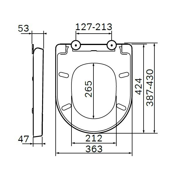 C707852WH Spirit V2.0, сиденье для унитаза wrap-over, микролифт