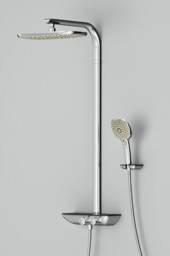 F0730000 Sensation душевая система с термостатом, верхний душ 250 мм, ручной душ 120 мм, 3 функции,