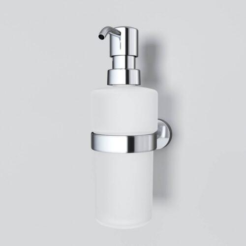 A7436900 Sense L, Стеклянный диспенсер для жидкого мыла с настенным держателем, хром