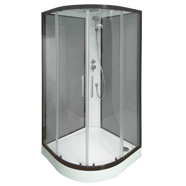 W75C-301-090BT Sense New душевая кабина 90х90, стекло прозрачное, профиль черный