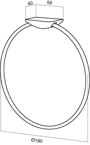 A5034464 Inspire, Кольцо для полотенец, хром, шт