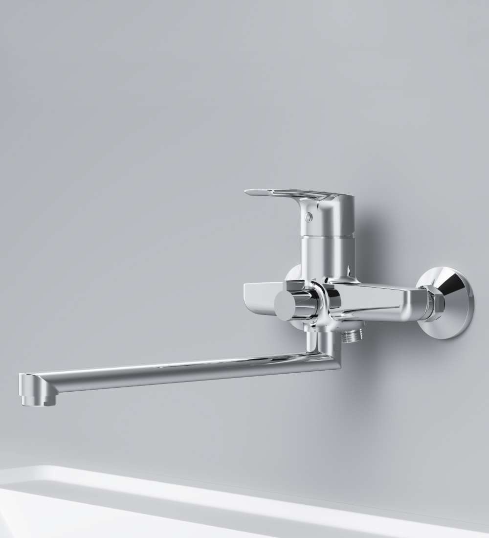 F90A90000 Gem, смеситель для ванны/душа, излив 320 мм, хром, шт.