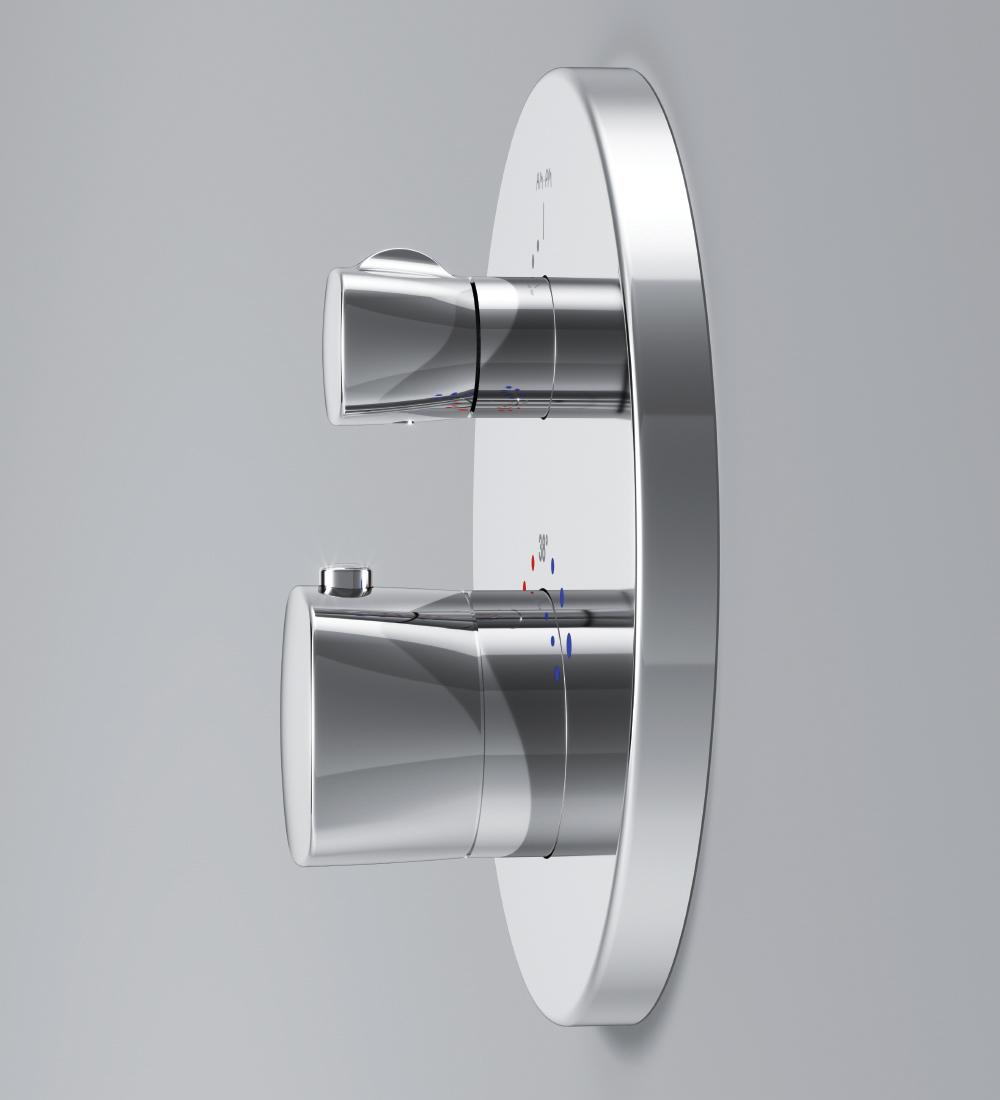 F71A75600 Spirit 2.1,  cмеситель д/душа монтируемый в стену с термостатом, хром, шт.