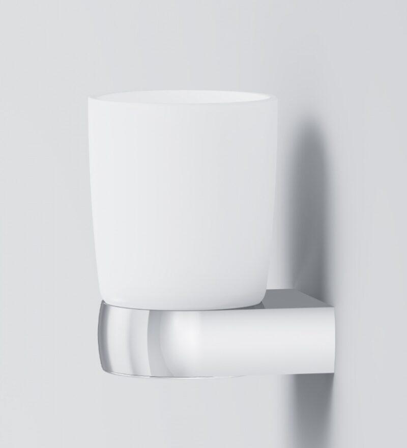A3034300 Sensation, Стеклянный стакан с настенным держателем, хром, шт