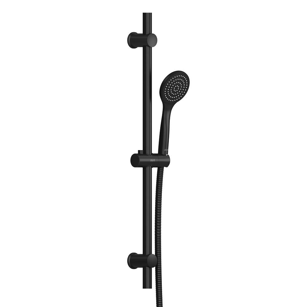 D0108000BL Comfort душевой комплект, ручной душ 1F, стойка 600 мм, черный