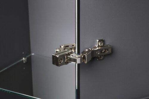 M70ACHML0356GM SPIRIT 2.0, шкаф-колонна, подвесной, левый, 35 см, зеркальный фасад, цвет: графит, ма