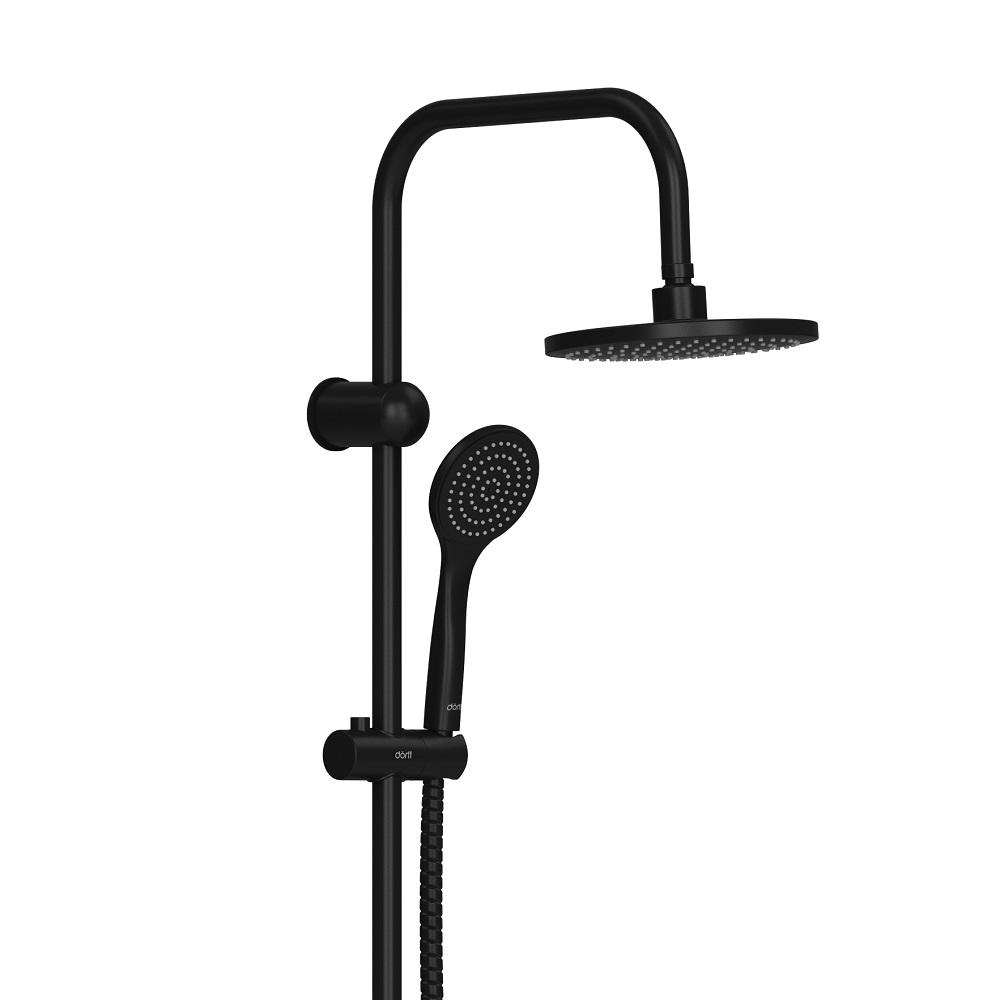 D0708000BL Comfort душевая система с тропическим душем, ручной душ 1F,  цвет черный