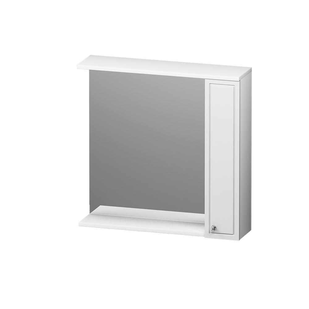 M41MPR0751WG Palace One, зеркало, частично зеркальный шкаф, правый, 75 см, с подсветкой, белый, глян