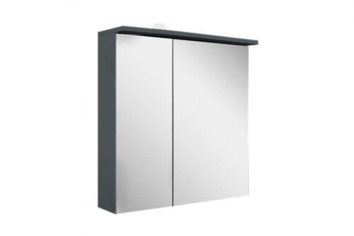 M70AMCR0601GM SPIRIT 2.0, Зеркальный шкаф с LED-подсветкой, правый, 60 см, цвет: графит, матовый