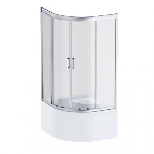 W90G-401A090WT Gem Deep душевое ограждение 90х90,стекло прозрачное,профиль мат. серебро,без поддона