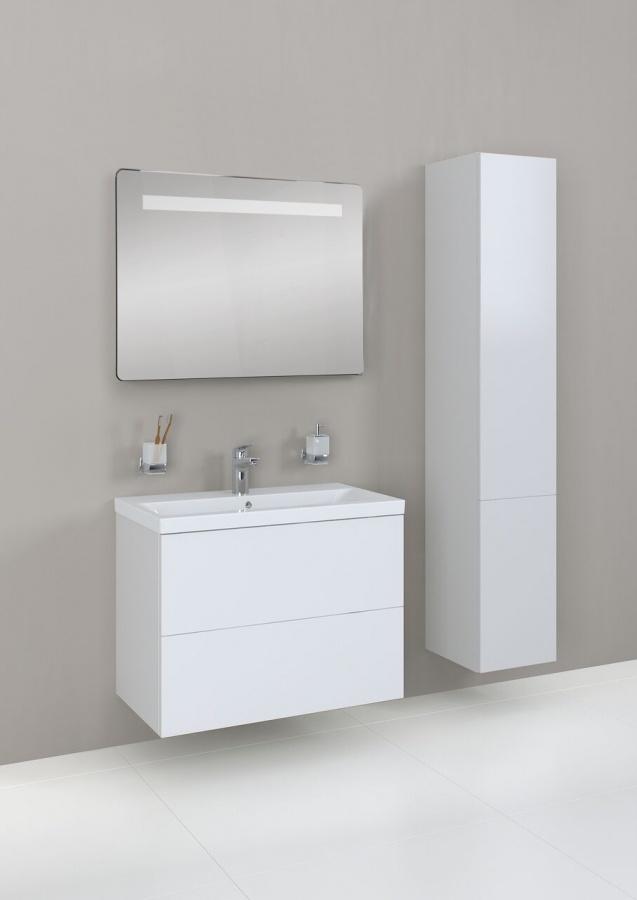 M90CHL0306WG GEM, шкаф-колонна, подвесной, левый, 30 см, двери, push-to-open, цвет: белый, глянец