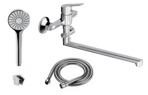 D1095000 Norma смеситель для ванны и душа для ванны и душа с универсальным изливом и душевым набором