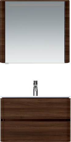 M30MCL0801NF Sensation, зеркало, зеркальный шкаф, левый, 80 см, с подсветкой, орех, текстурированная
