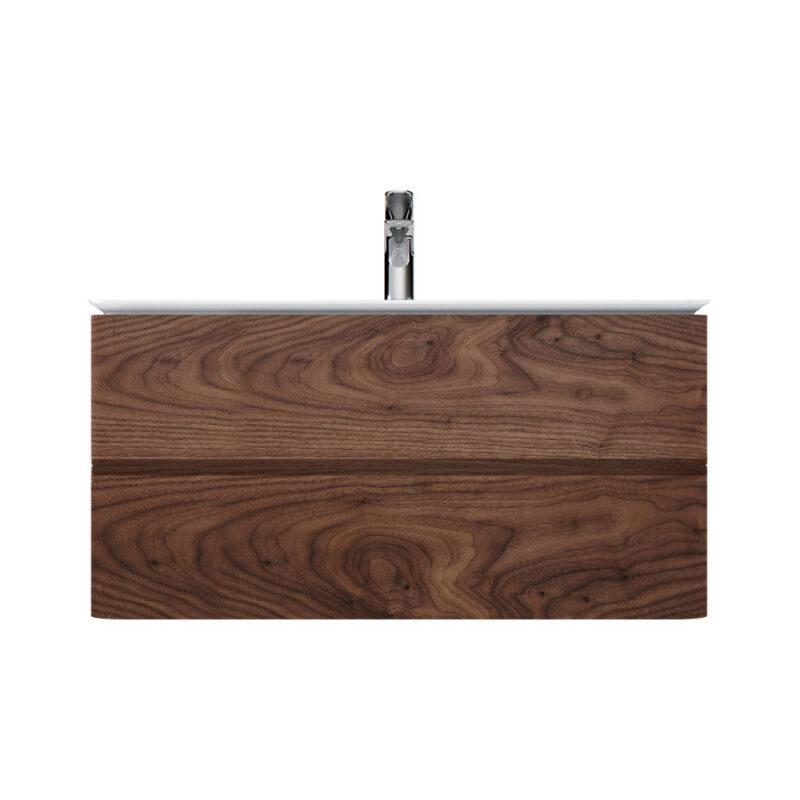 M30FHX1002NF Sensation, База под раковину, подвесная, 100 см, ящики, орех, текстурированная, шт