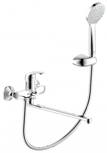 419500000 Palace One, смеситель для ванны/душа с универсальным изливом 350 мм, ручным душем, шт