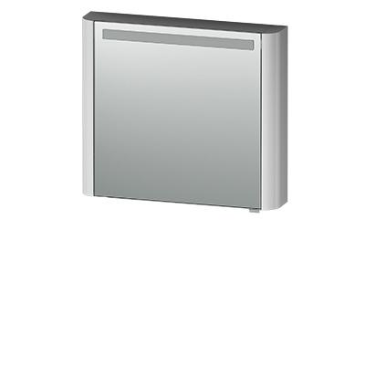 M30MCL0801FG Sensation, зеркало, зеркальный шкаф, левый, 80 см, с подсветкой, серый шелк, глянцевая,