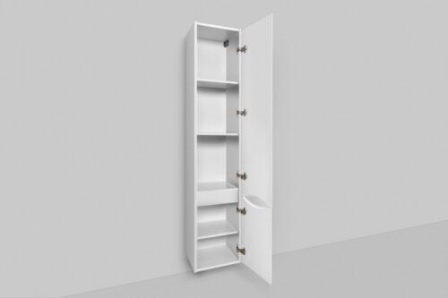 M80CHR0356WG Like, шкаф-колонна, подвесной, правый, 35 см, двери, белый, глянец, ш