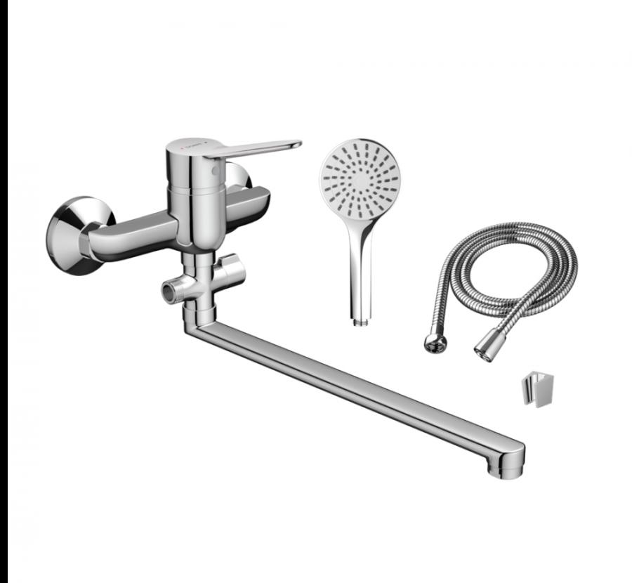 D2095000 Optima смеситель для ванны и душа для ванны и душа с универсальным изливом и душевым набор