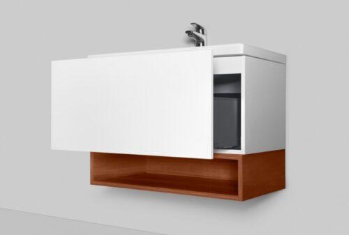 M90OHX0600NF GEM, Open-space для базы, подвесной, 60 см, цвет: орех, текстурированный