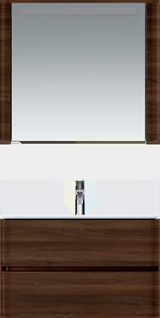 M30MCR0801NF Sensation, зеркало, зеркальный шкаф, правый, 80 см, с подсветкой, орех, текстурированна