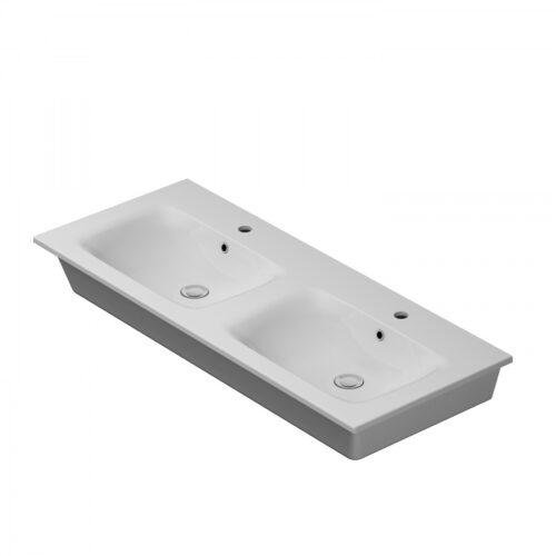 M70AWCD1202WG SPIRIT 2.0, Раковина мебельная, керамическая, 120 см, встроенная, цвет: белый, глянец