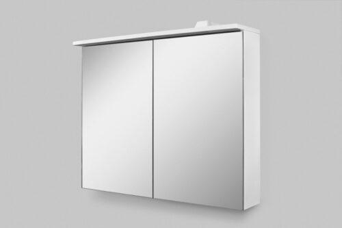 M70AMCX0801WG SPIRIT 2.0, Зеркальный шкаф с LED-подсветкой, 80 см, цвет: белый, глянец