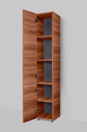 M90CSL0306NF GEM, шкаф-колонна, напольный, левый, 30 см, двери, push-to-open, цвет: орех, текстуриро