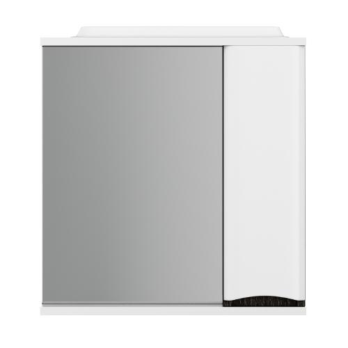 M80MPR0651VFLike, зеркало, частично-зеркальный шкаф, правый, 65 см, с подсветкой, венге, текстуриров