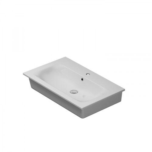 M70AWCC0802WG SPIRIT 2.0, Раковина мебельная, керамическая, 80 см, встроенная, цвет: белый, глянец