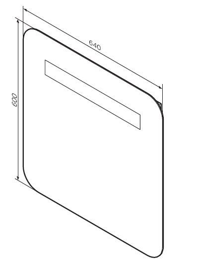 M80MOX0641WG Универсальное зеркало с LED подсветкой, 64 см