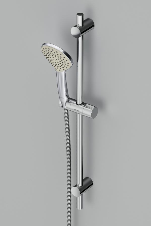 F0190100 Gem душ.комплект: ручн.душ 3 ф-ции d 110 мм, штанга 700, шланг 1 750 мм, хром, шт.