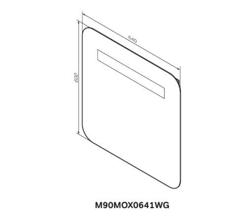 M90MOX0641WG GEM Зеркало настенное с LED-подсветкой, 64 см