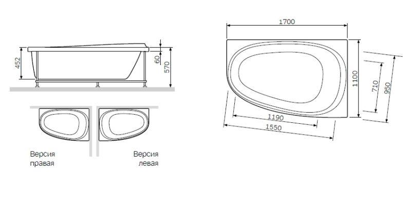 W80A-170U110W-P Like, панель фронтальная 170х110 см, универсальная, шт