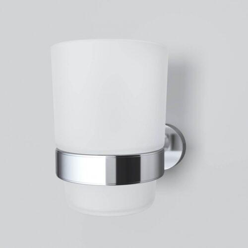 A7434300 Sense L, Стеклянный стакан с настенным держателем, хром