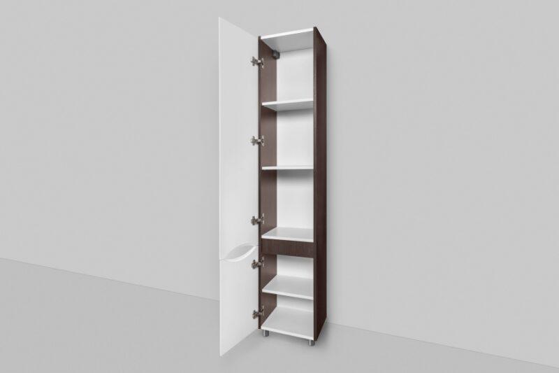 M80CSL0356VF Like, шкаф-колонна, напольный, левый, 35 см, двери, венге, текстурированный