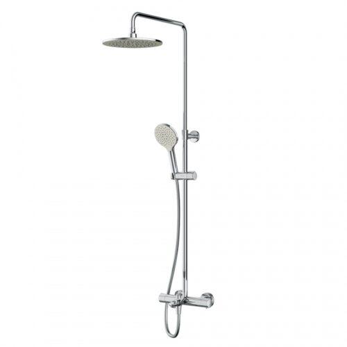 F0780564 Like душ.система, набор: смеситель д/ванны/душа с термостатом, верх.душ.d 250 мм, ручн.душ