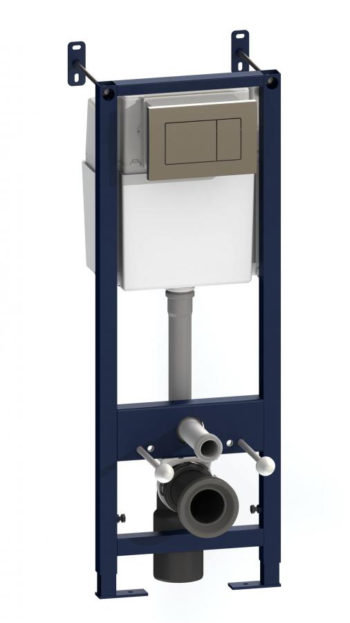 I01270351N Инсталляция для подвесного унитаза с клавишей глянц хром