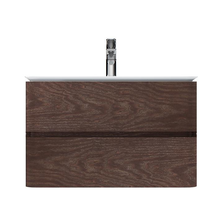 M30FHX0802TF Sensation, База под раковину, подвесная, 80 см, ящики, табачный дуб, текстурированная,