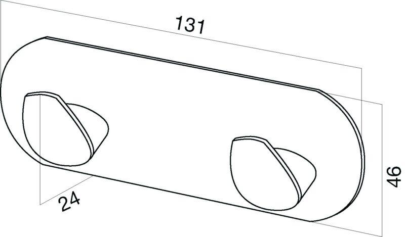 A5035664 Inspire, Двойной крючок для полотенец, хром, шт