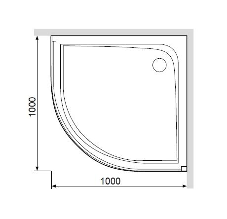 W80T-301-100MT Like,  акриловый поддон с сифоном для душевого ограждения, 100x100