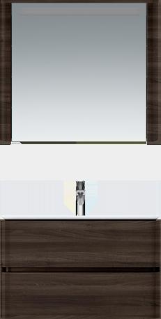 M30MCL0801TF Sensation, зеркало, зеркальный шкаф, левый, 80 см, с подсветкой, табачный дуб, текстур